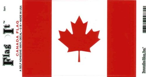Canada Flag Decal For Auto, Truck Or Boat - 5