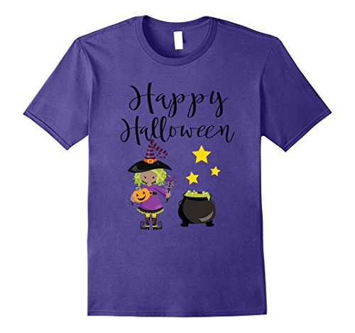 Mens Happy Halloween Witch T-Shirt Funny Scary Pumpkin Tee Shirt Small Purple