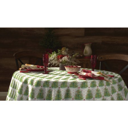 The Pioneer Woman Holiday Tree Tablecloth, 70