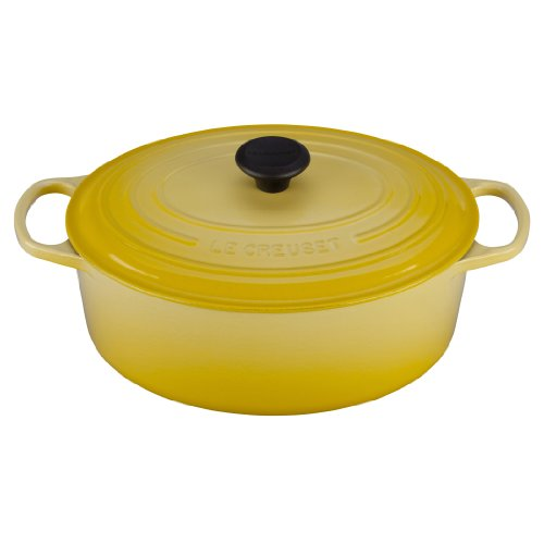 Le Creuset Signature Enameled Cast-Iron 6.75 Quart Oval French (Dutch) Oven, Soleil Purple Oval Pot