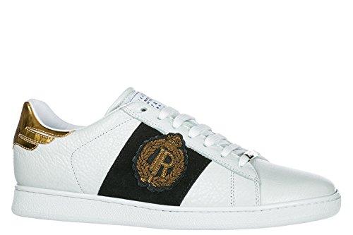 John Richmond Mens Scarpe Uomo Sneakers In Pelle Panama Bianco