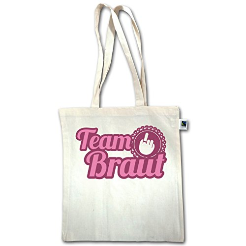 Jga Bachelorette Party - Ringfinger Team Bride - Unisize - Natural - Xt600 - Manico Lungo In Juta Bag