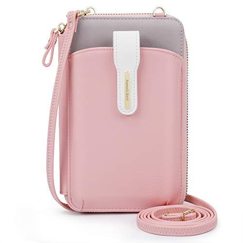 Pomelo Best Handy Umhängetasche Damen Geldbeutel mit abnehmbare Schulterriemen für Handy unter 7 Zoll (Magnetverschluss)