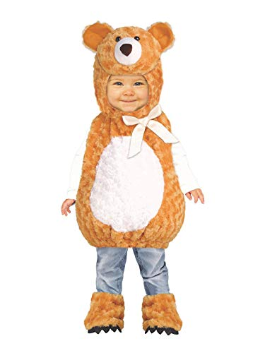 Fun World Teddy Bear Toddler Costume, Multicolor, Large -