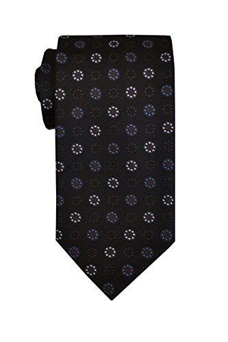 - Remo Sartori Made in Italy Men's Circle Dots Pattern Necktie, 3.34'' Width, Silk (Tiffany)