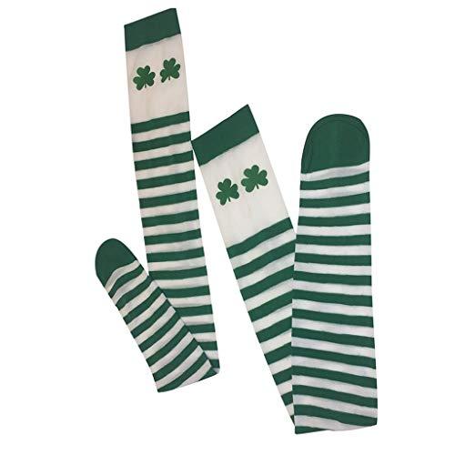 Tronet Casual Socks/Women Thigh High Spcks Over Girl Winter Cotton Stripe Warmer Soft Cotton Socks