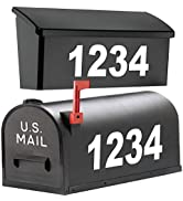"""1060 Graphics 3"""" Premium Reflective Mailbox Numbers amp; Letters - Custom Made In Any Style, Color, ..."""