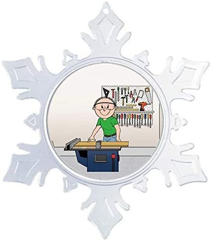 Auto Mechanic Male Printedperfection Com Personalized Friendly Folks Cartoon Snowflake Christmas Ornament Seasonal Décor Kolenik Ornaments