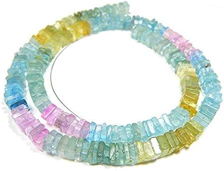 16 Strand Prehnite Semi Precious Gemstone Tyre Rondelle Beads AAA Natural Multi Prehnite Gemstone 5mm-6mm Smooth Heishi ~ Spacer Beads