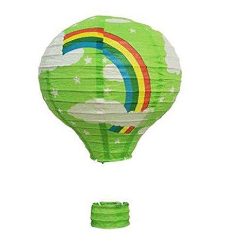 Goddness Bar Birthday Party/Christmas/Easter/Mall Decoration Hanging Paper Lantern Hot Air Balloon 30cm(Green)]()