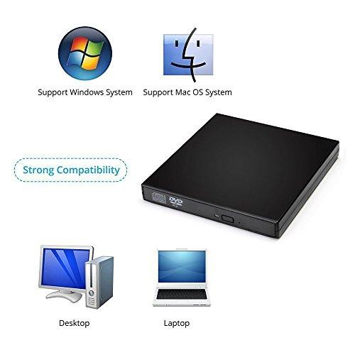 VesTcp External CD Drives USB 2.0 Slim Protable External CD-RW Drive DVD-RW Burner Writer Player for Mac Windows 2000 / XP/Vista / Win 7/8 /10 for Laptop Notebook PC Desktop Computer by VesTcp (Image #2)