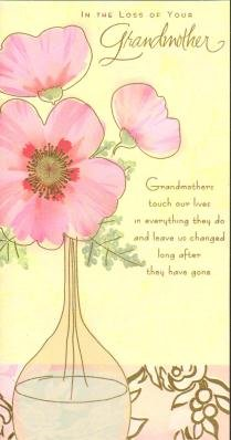 Amazon loss of your grandmother sympathy greetings cards home loss of your grandmother sympathy greetings cards m4hsunfo