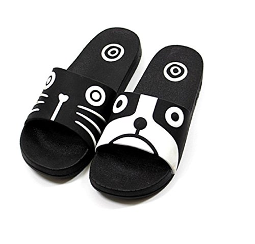 Elais J Womens Cute Amimal Rubber Sole Slide Sandals Slippers Dog & Cat phovXzlfED