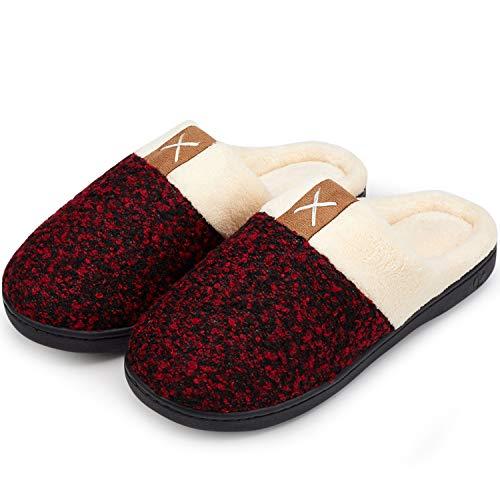 Pantofole welltree Calde Rosso Foam Pantofole Invernali Letto Memory Morbide Camera da Bagno da Antiscivolo Aqda6qZ