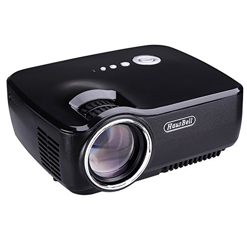 Hausbell projector mini projector portable video led for Portable video projector