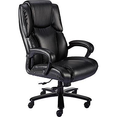 Staples Glenvar Bonded Leather Big and Tall - Chair Leather Staples