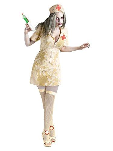 [Zombie Nurse Costume - Medium/Large - Dress Size 10-14] (Zombie Nurse Costumes)