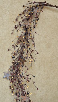 Pip Berry and Rusty Star Garland, Colonial - 45''