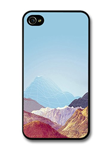 Cool Geometric Mountain on a Cute Sky Blue Style case for iPhone 4 4S