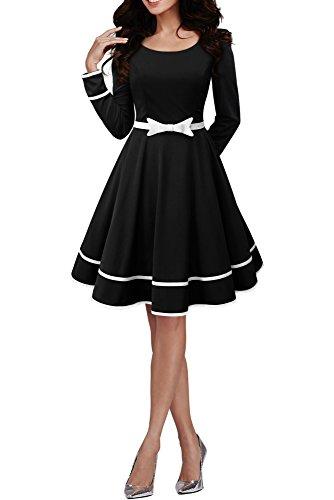 50er Vintage Clarity Schwarz Kleid 'Grace' Jahre BlackButterfly Stil im SXgPSBn