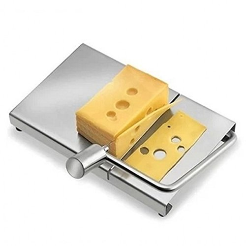 WellieSTR. 304# Stainles Steel Cheese Slicer Cheese Tray ,