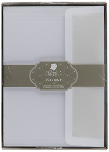 Great Papers! White Flat Card Invitations with Pearl Lined Envelopes, 5.5