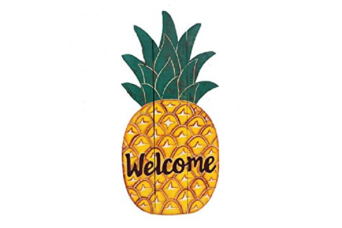 DEI Carved Pineapple Welcome Sign (Signs Pineapple Welcome)