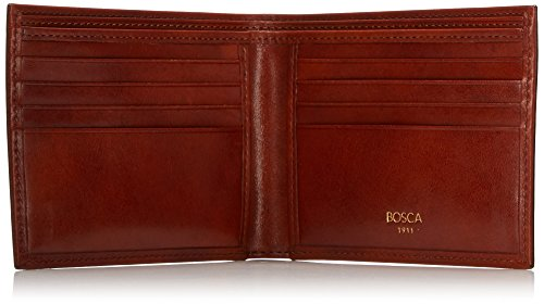 Bosca Men's Executive Amber Old Wallet Classic Leather Pocket 8 Deluxe npZBqwP
