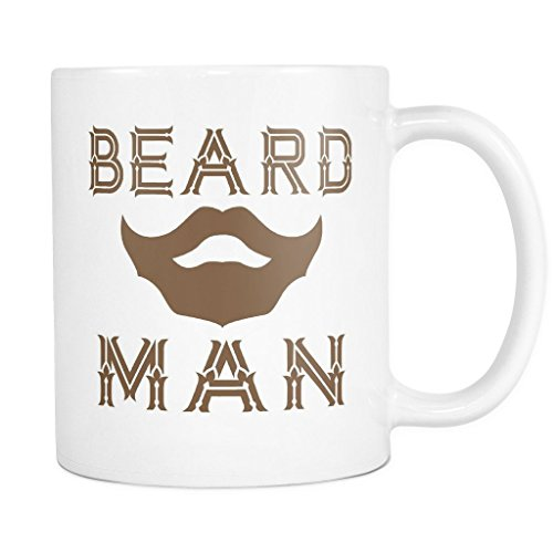 Rainwater Tea Tree Oil (BEARD MAN Coffee Mug, PERFECT PERSONALIZED MEN GIFT for Boss Husband Boyfriend Father Son Guy! Attractive Durable White Ceramic Mug STYLE 1)