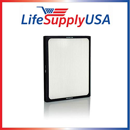 LifeSupplyUSA Replacement Air Purifier Filter fits ALL Blueair 200 & 300 Series Models 201, 210B, 203, 250E, 200PF, 201PF