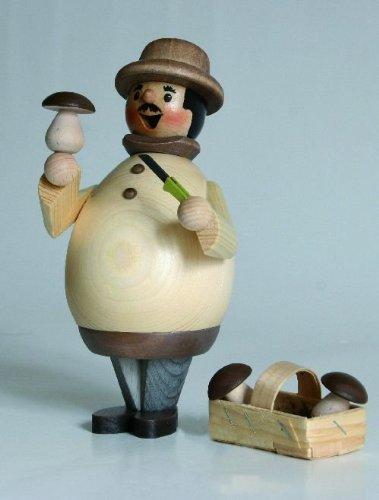 Pinnacle Peak Trading Company Happy Mushroom Collector German Christmas Incense Smoker Made in Germany -