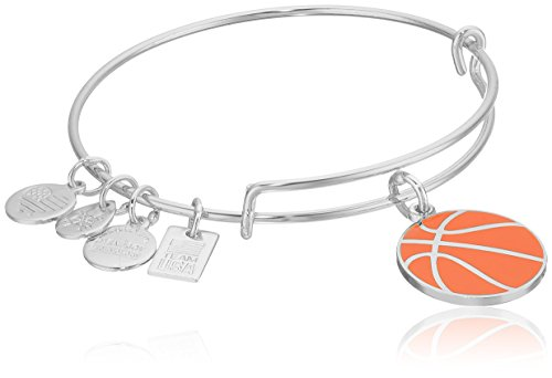 Silver Basketball Signature (Alex and Ani Women's Team USA Basketball Bangle Shiny Silver One Size)