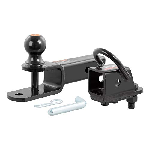CURT 45038 3-in-1 ATV Hitch Ball Mount with 2-Inch Receiver Adapter 2-Inch Ball, Clevis Pin, 5/8-Inch Hole (Atv Mount Kit)