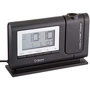 Oregon Scientific RM308PA Classic Projection Clock with Atomic Time Indoor Temperature Calendar Date - Black
