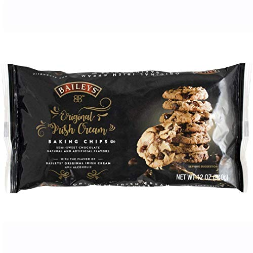 BAILEYS Original Irish Cream Baking Chips, Semi Sweet Chocolate Chips for Baking, Candy and Desserts (1) Chocolate Semi Sweet Cookies