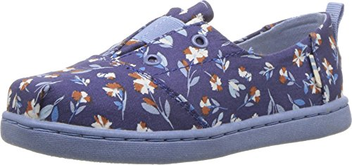 (TOMS Kids Baby Girl's Lumin (Infant/Toddler/Little Kid) Deep Cobalt Vintage Floral 3 M US Infant )