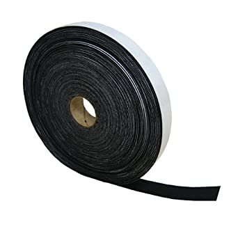 Black Acrylic Felt Stripping with Adhesive 3//4 Wide X 50 Long X 1//16 Thick