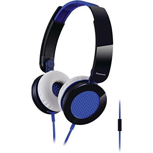 - Panasonic RP-HXS200M-A Sound Rush On-Ear Headphones, Blue/Black