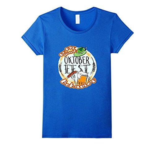 Womens Beerfest Shirt Wurst Behavior Oktoberfest 2017 Drinking Team Large Royal Blue (Womens Oktoberfest Outfit)