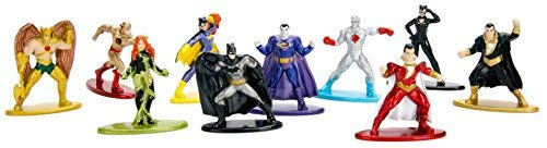 Nano metalfigs 10 Pack Batman Bizarro Catwoman Les Chauves-Souris Reverse Flash Shazam