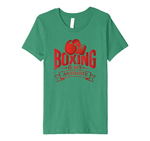 Kids Boxing Is My Antidote: Boxers Ring Funny Athletic T-Shirt 12 Kelly Green