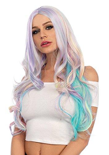 Pastel Rainbow Long Wavy Wig (Pastel Rainbow Wig)
