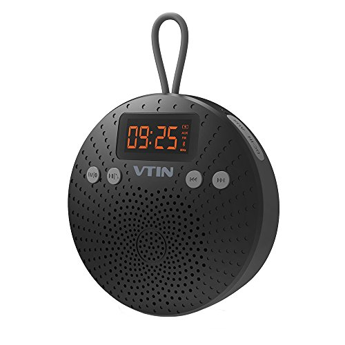 vtin-shower-radio-with-fm-portable-bluetooth-shower-speaker-waterproof-with-suction-cup-lcd-display-