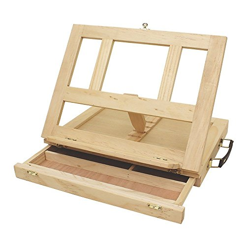 Art Alternatives Marquis Artists Adjustable Desk Box Easel, Natural -