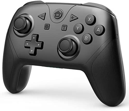 Game Controller Compatible with Switch and Switch Lite, Wireless Pro Controller Gamepad Remote Joystick with NFC, Turbo, Dual Vibration and Motion Control Function (Black)