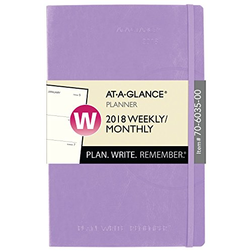 """Top AT-A-GLANCE Weekly / Monthly Planner, Plan.Write.Remember, January 2019 - December 2019, 3-3/8 x 5-1/4"""", Color Will Vary (70603500)"""