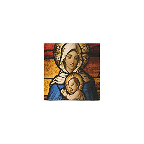 Christmas/Thanksgiving Day Towels Vingin Mary and Baby Jesus Christian Catholic Religious Gift Thin Soft Towel(One Side)(13x13inches) by Virgin Marry Towel