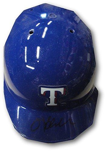 (Hank Blalock Hand Signed Autographed Mini Helmet Texas Rangers)