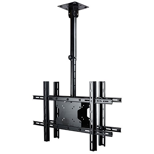 VideoSecu Tilt Swivel Height Adjustable Dual TV Ceiling Mount for most 32