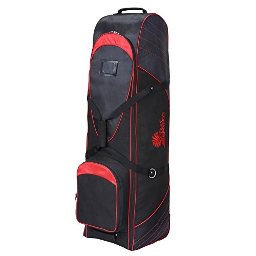 Palm Springs Golf Bag Tour Travel Cover V2 with Wheels Black/Red by Palm Springs